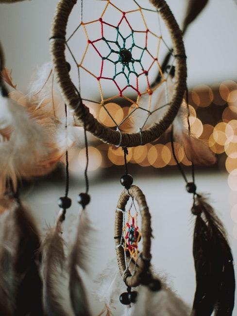attrape-reve anneau DIY avec plumes