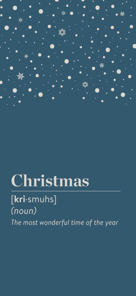Fond d'écran pour bleu smartphone au thème Noël à télécharger gratuitement