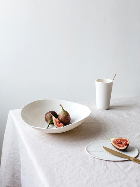 vaisselle porcelaine blancheslow deco