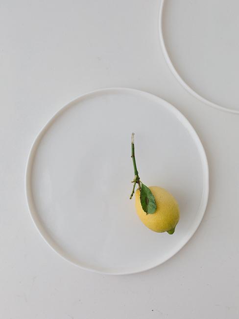 assiettes citron porcelaine