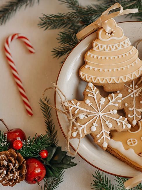 décoration de Noël durable avec des biscuits de Noël
