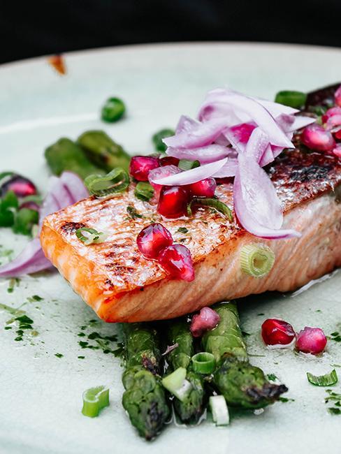 recette de saumon avec baies roses