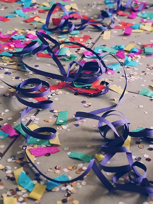 confettis et cotillons au sol