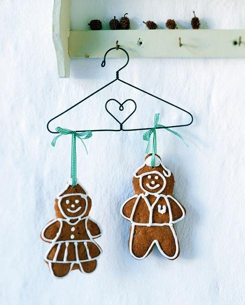 biscuits de noel sur un cintre