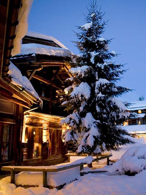 montagne neige hiver chalet