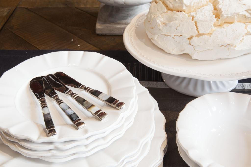 service à dessert blanc