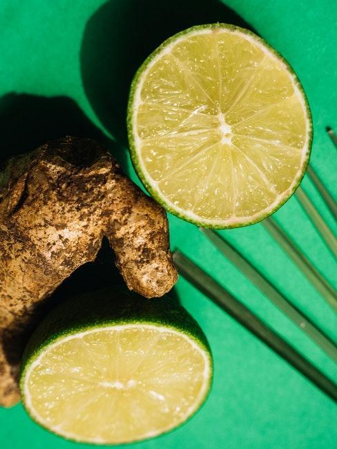 Citron vert et gingembre