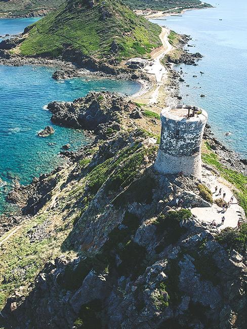 Vue aérienne de la Corse