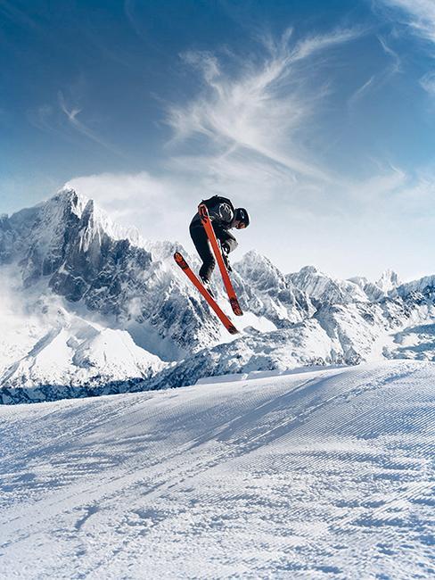 Personne entrain de skier