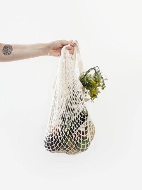 sac de provision écologique avec légumes