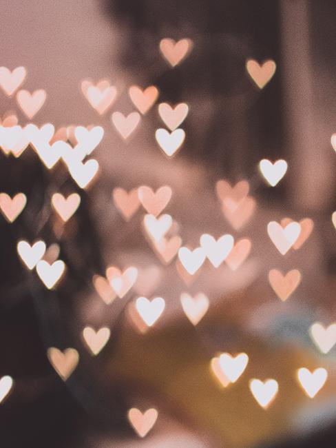 effet de bokeh en forme de coeur