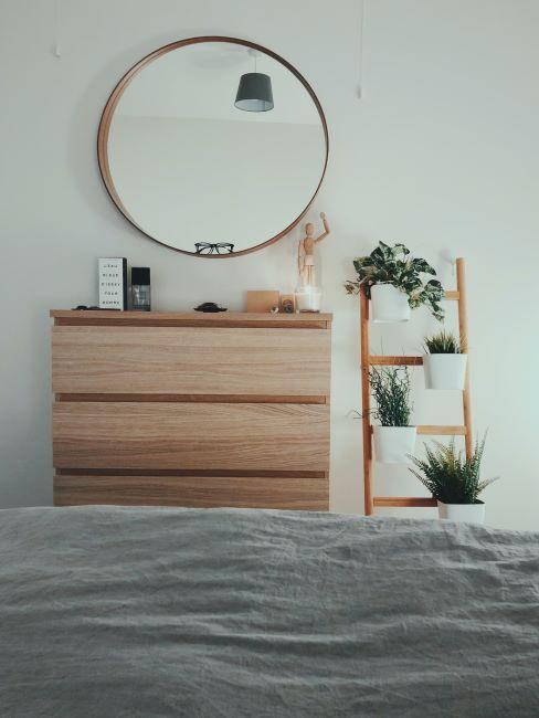 Coiffeuse moderne avec meuble en bois