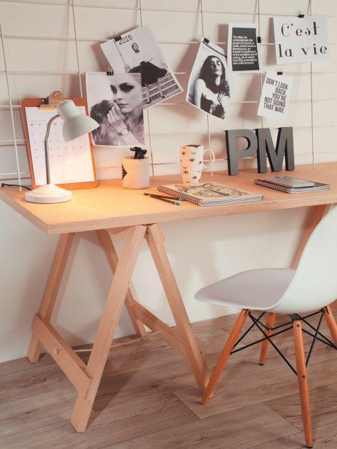 chaise de bureau; bureau à domicile, bureau en bois