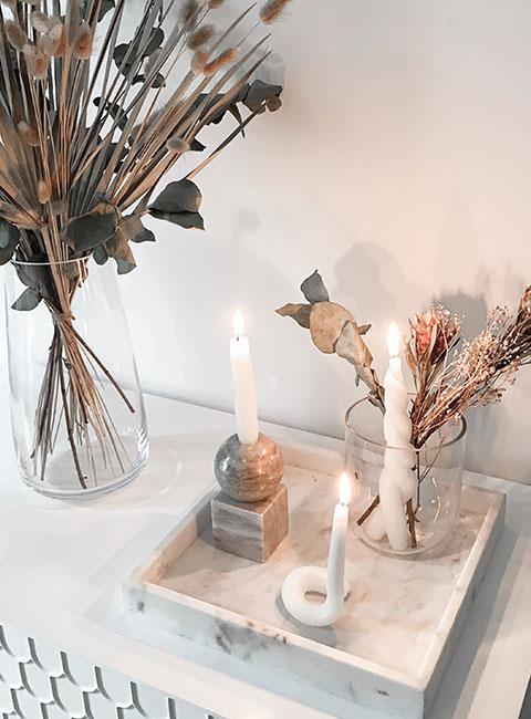 bougies diy deco