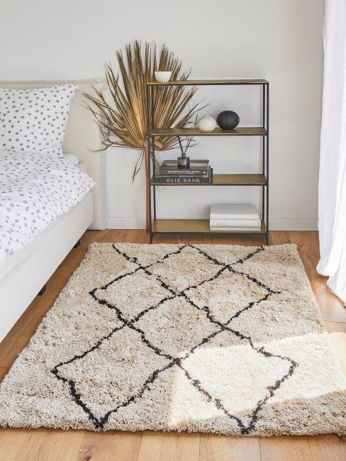 tapis berbère, chambre à coucher bohème, boho