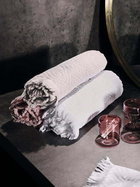serviettes enroulees