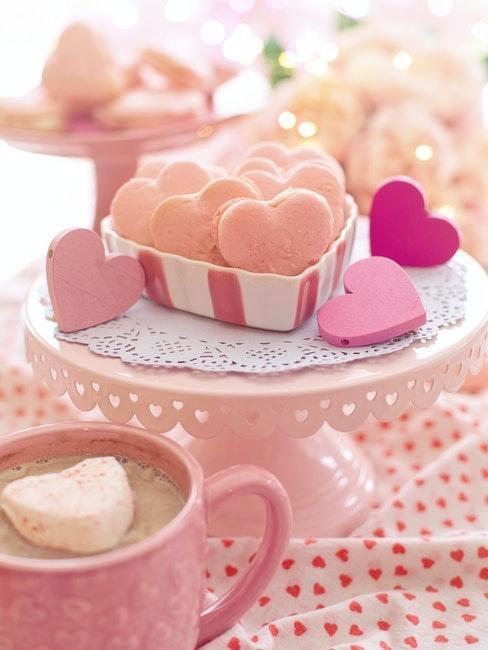 gateaux café cœur saint valentin