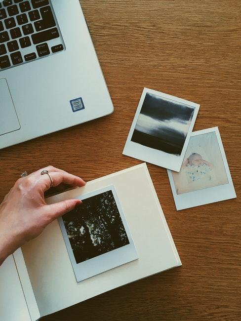 Album photo polaroid fait main