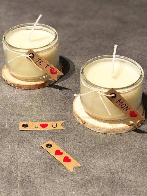 bougies diy saint valentin