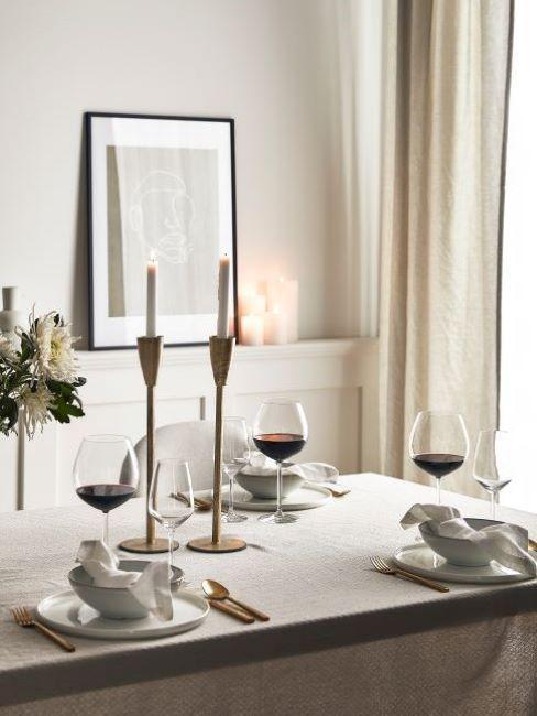 déco de table salle à manger classique