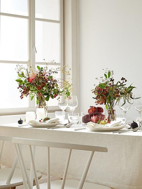 décoration de table automnale