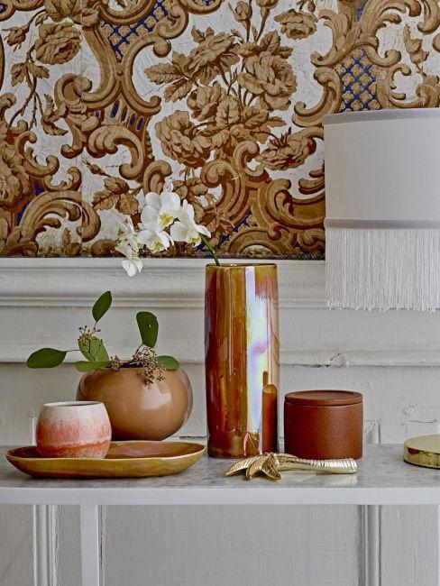 decoration table d'automne vase en citrouille