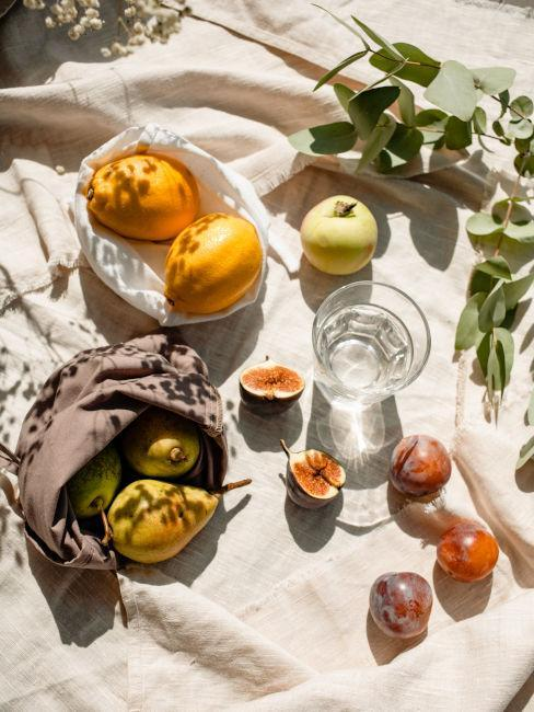 idée déco automnale avec des fruits