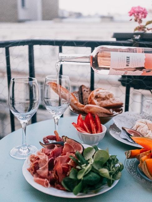 table romantique extérieur