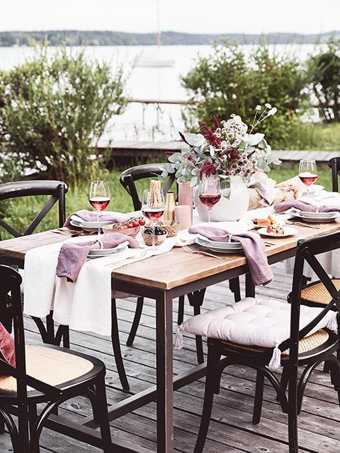 décoration de table estivale