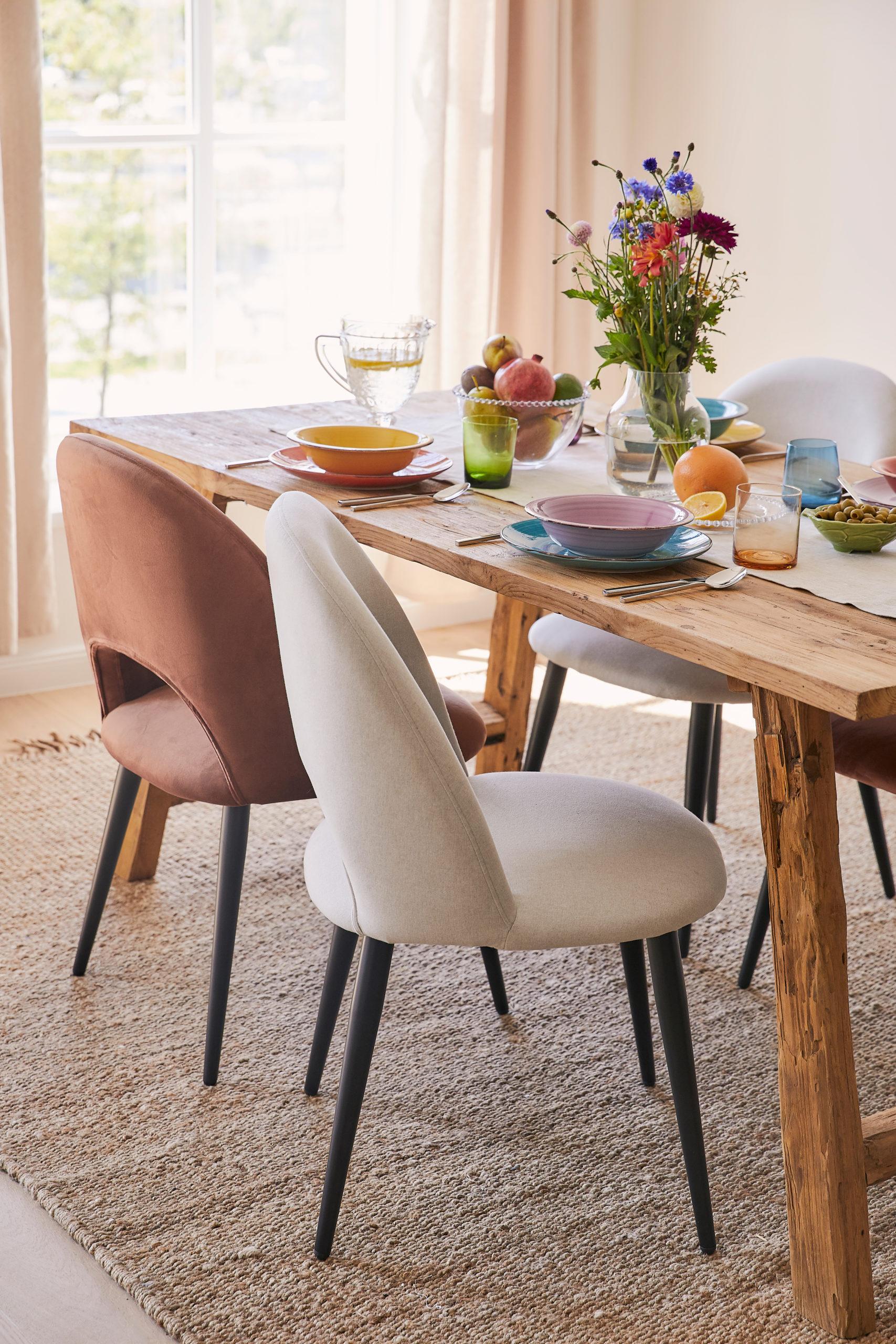décoration de table colorée