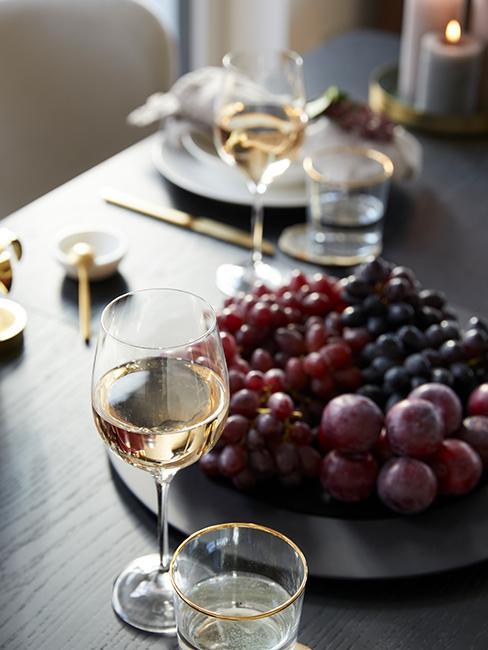 verresde vin et raisins