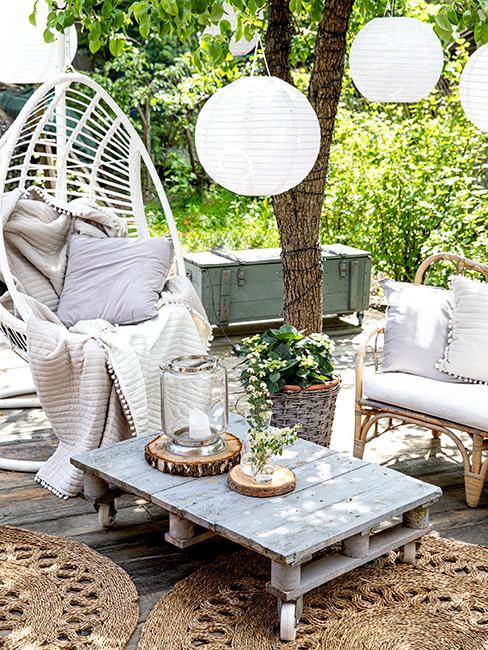 DIY table en palette pour le jardin