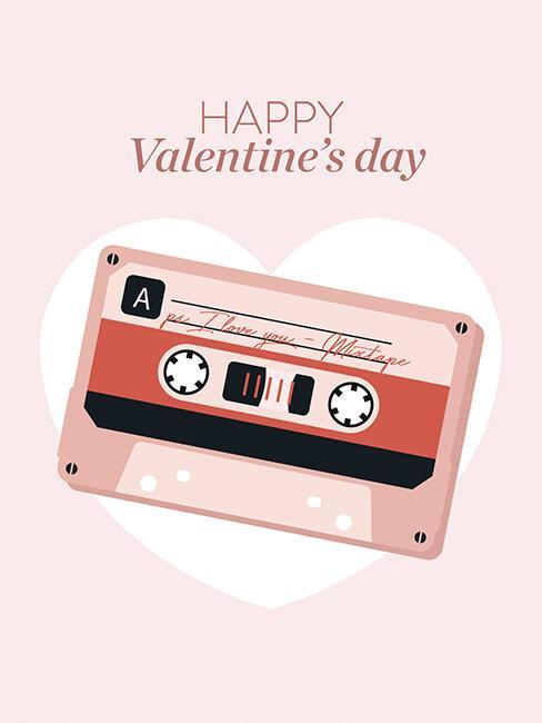 saint valentin cassette carte