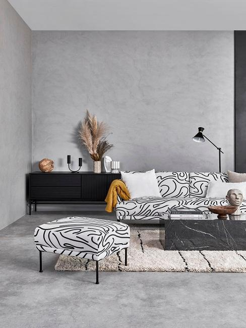 salon avec canapé arty