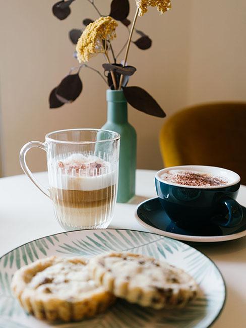 cookies et cappuccino