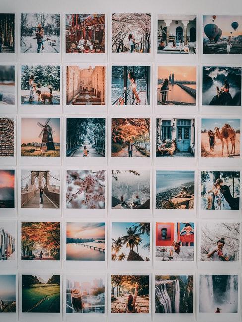 mur de photo souvenirs