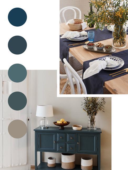 palette de couleur bleu