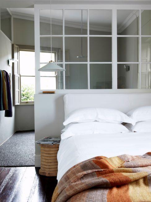 séparation de chambre, fenêtre atelier blanche, moderne