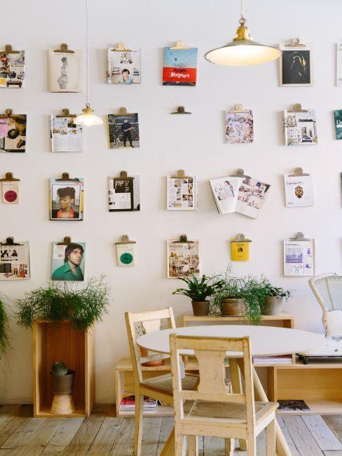 mur des photos, déco murale
