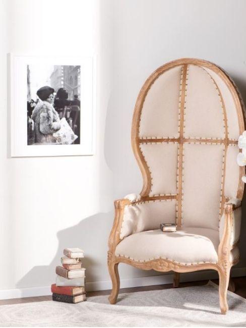 chaise dossier haut, style victorien sculpté