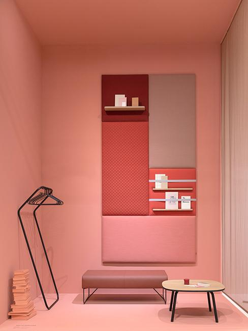coin lecture avec mur rose