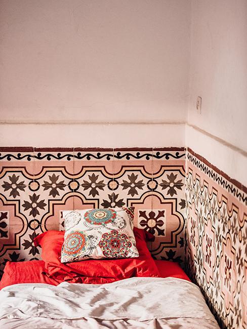 chambre style oriental avec carrelage