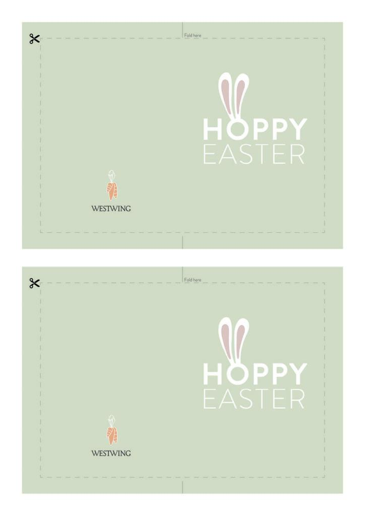 carte de paques à imprimer Hoppy easter