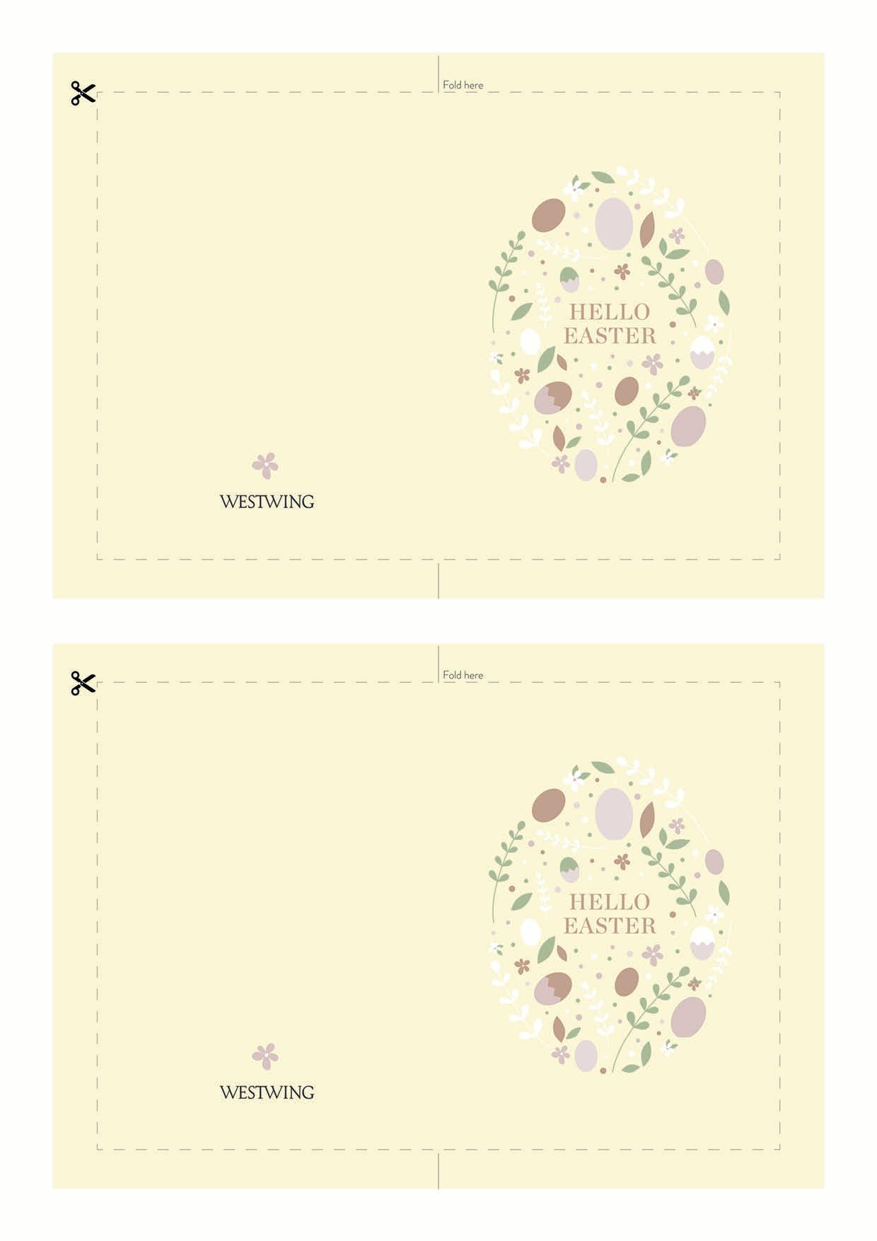carte de paques à imprimer