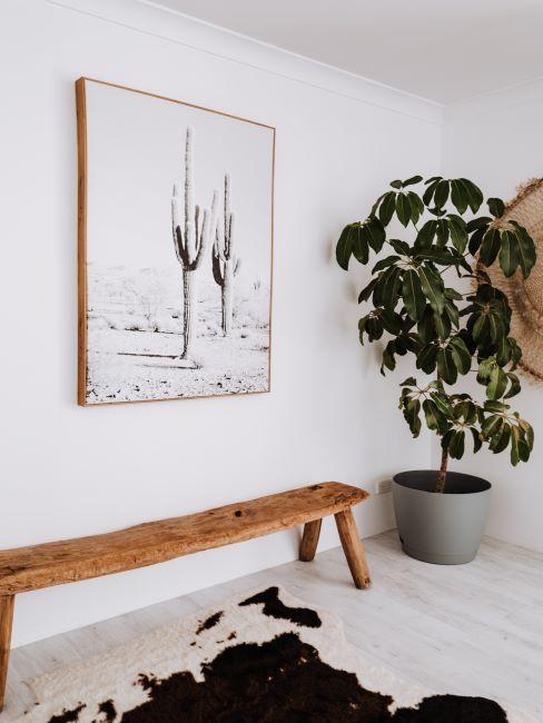 banc en bois brut, banc à repeindre, décoration minimaliste, rustique