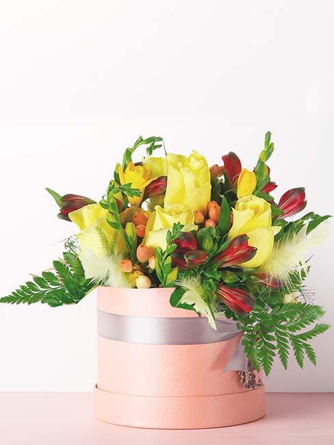 fleurs-rose-jaune