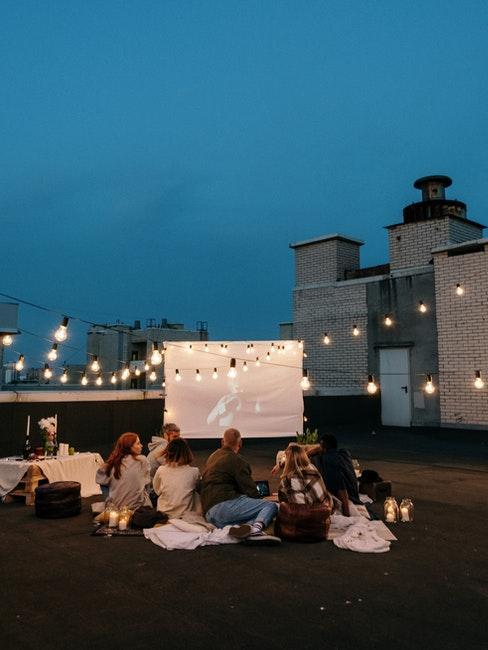 soirée cinéma sur toit-terrasse