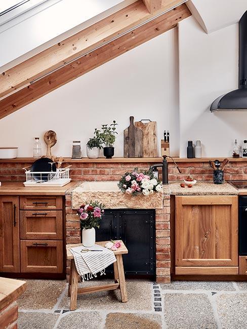 cuisine en bois classique