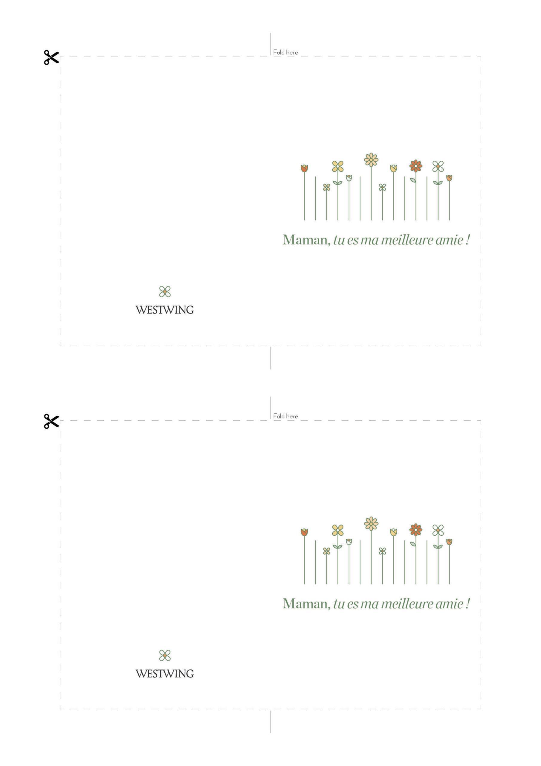carte fete des meres à imprimer