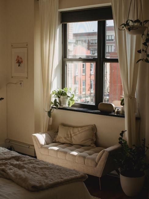 sofa, canapé, rideaux